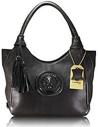 d79ddac4a4 FERETI borse grandi e portafoglio vera pelle marrone Leone 3D …