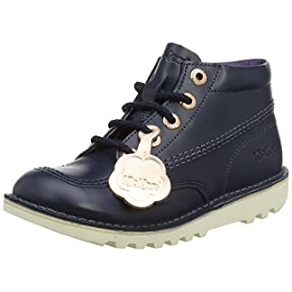 Kickers Girls' Kick Hi Lthr Yf Boots