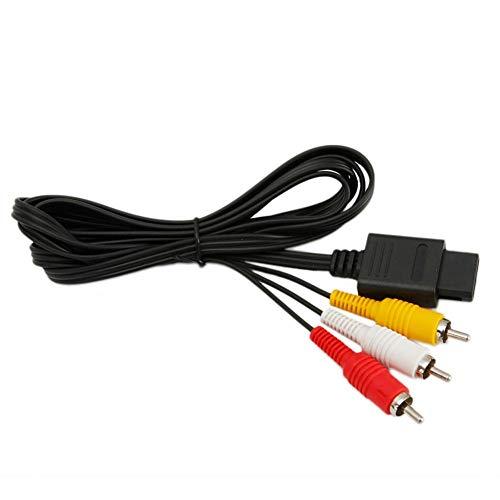 Yunn 【Versand aus US Warehouse】 Composite-AV-TV-Display-Kabel, 1,8 m, Ersatzkabel für Gamecube N64 SNES -