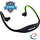 Energic™ Wireless Bluetooth BS19C In-Ear Sports Headset, MP3 Jogging Player With Micro Sd Card Slot And FM Radio For All Android & IPhone Smartphones (Assorted Colour)