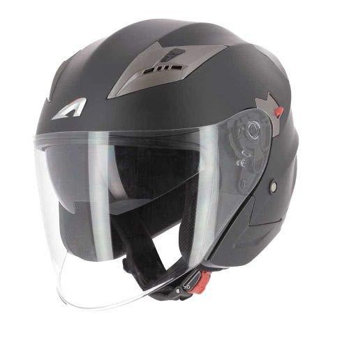 Astone Helmets Casco Jet DJ9 Monocolor Casco Jet Omologato Casco Moto Jet Casco Moto In Policarbonato Matt Black M