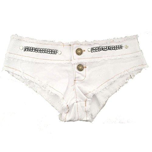 Kurze Jeans Nightclub Women Low-Rise Denim-Shorts Hot Pants Beach Shorts (Farbe : C, größe : S) (Kostüme Für Weniger Code)