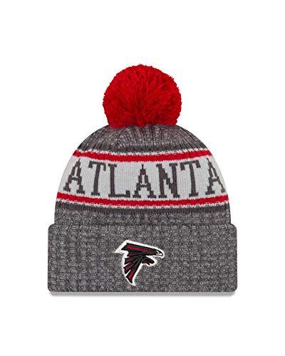 New Era Atlanta Falcons Beanie NFL 2018 Sideline Sport Graphite Knit Red/Grey - One-Size