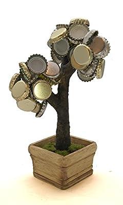 Deckel Bonsai - Magnetischer Kronkorkenbaum mit 3 Magneten / Perfekte Geschenkidee für Biertrinker / Partyspiel