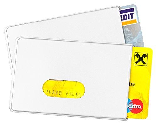 2 x RFID Schutzhüllen von BE-HOLD sind die idealen Scheckkartenhüllen zum Schutz vor Datendieben (2 Stück, weiß)