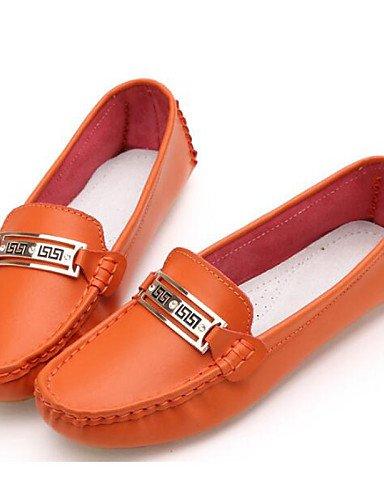 ZQ gyht Scarpe Donna-Ballerine-Ufficio e lavoro / Formale / Casual-Comoda / Ballerina-Piatto-Nappa Leather / Tulle-Giallo / Bianco / Arancione , orange-us9 / eu40 / uk7 / cn41 , orange-us9 / eu40 / uk orange-us5.5 / eu36 / uk3.5 / cn35