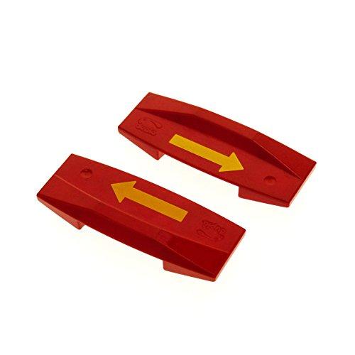 2 x Lego Duplo Richtungswechsler rot Pfeil gelb Eisenbahn Start Stop Code Stein für E Lok Zug 2741 81917 pb01
