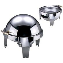 Contacto acero inoxidable Roll-top calientaplatos eléctrico con placa calefactora CNT07098001