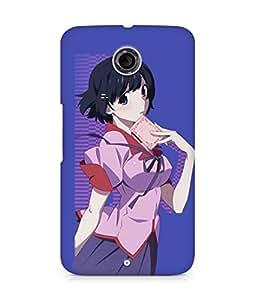 Amez designer printed 3d premium high quality back case cover for Motorola Nexus 6 (Monogatari Series)