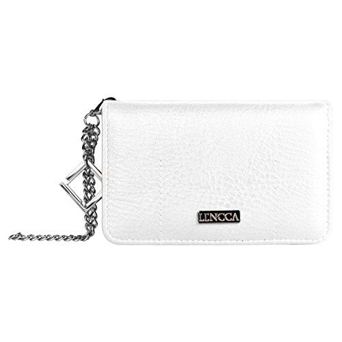 lencca-kymira-designer-women-wristlet-clutch-with-mobile-phone-compartment-white