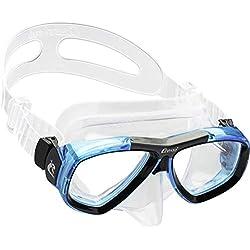 Cressi Focus Masque de Plongée Snorkeling Adulte, Compatibles Verres Correcteurs Clear/Aquamarine