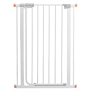 Auto Close White Stair Gate, Safety Gate Room Divider for Dog Pet Baby (Color : High 103cm, Size : 96-103cm)   5