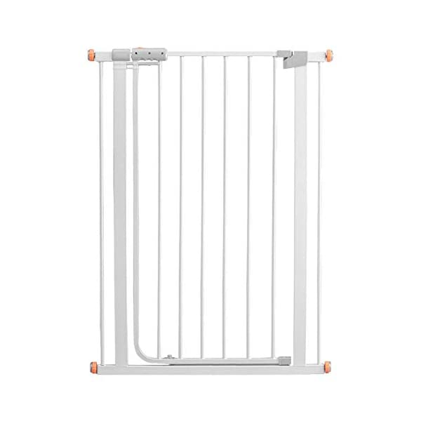 Auto Close White Stair Gate, Safety Gate Room Divider for Dog Pet Baby (Color : High 103cm, Size : 96-103cm) Huo WALL PROTECTION: Safety Gates For Kids or Pets With an extension from 61-215cm, this gate will fit in most doorways quickly and easily EASY TO INSTALL: the safety gate is fixed with four fixing screws by pressure, that means neither drilling or screws are necessary; DURABLE AND CONVENIENT: Tall Thru Gate Made with sturdy metal construction for the ultimate in durability, the play yard is easy to set up and take down. 1