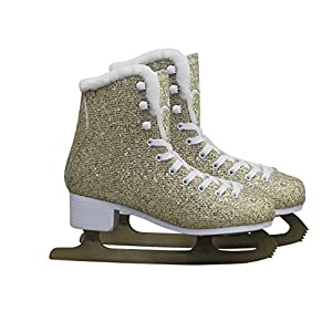 Cox Swain Figure Damen + Kinder Eiskunstlauf Schlittschuh -Glitter