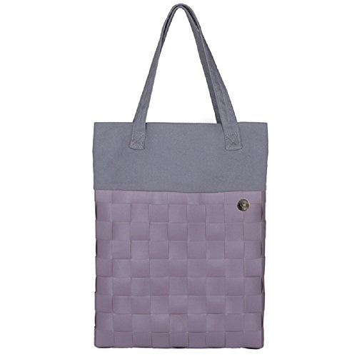 tessuto riciclato Shopper Handed By Urban, colori assortiti, Mauve, large Mauve