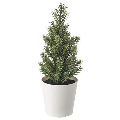 Ikea Vinterfest Mini árbol de Navidad Artificial en Maceta, 904.370.35, 6 cm