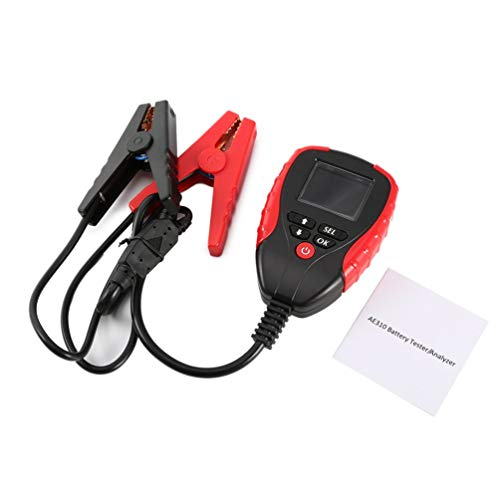 CHOULI Automotive Load Battery Tester Digital Analyzer Car Cell Test Diagnostic Tool Black & Red Digital Battery Load Tester