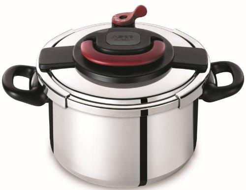 Autocuiseur SEB Clipso Plus P4371406 8L : 6 à 8 personnes - 2 programmes de cuisson - Panier vapeur - Ouverture/fermeture ultra facile - Poignées rabattables - Tous feux dont induction