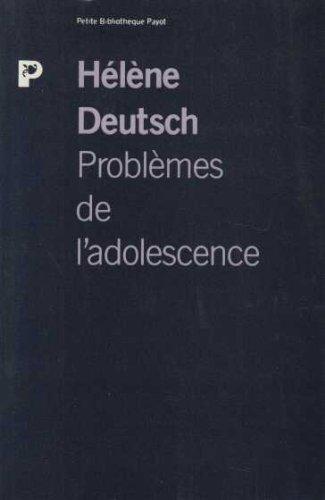 Problèmes de l'adolescence : La formation de ...