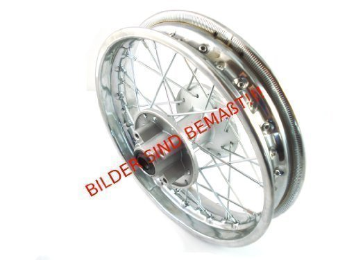HMParts-Dirt-Bike-Dirt-Bike-CrossbikeStahlfelge-12-Pollici-posteriore-cromo