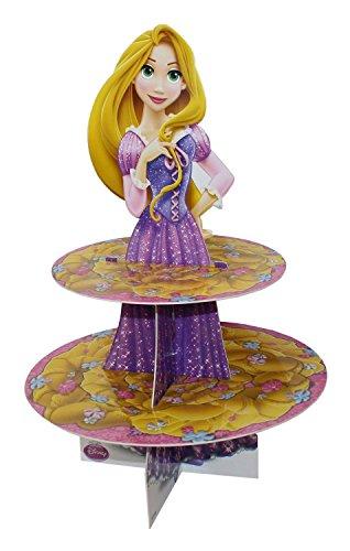 Alzatina 2 livelli per cup cakes principessa rapunzel per feste compleanno bambina