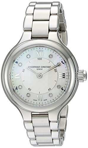 Frederique Constant Women's 'Horological Smart' Swiss Quartz Stainless Steel Casual Watch, Color:Silver-Toned (Model: FC-281WHD3ER6B)