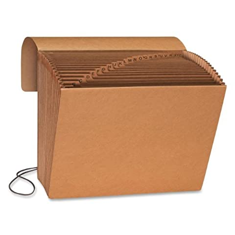 Smead Expanding File, Alphabetic (A-Z), 21 Pockets, Flap and Cord Closure, Letter Size, Kraft