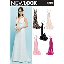 New Look patrones de costura para vestidos de fiesta de Chica patrón de costura para 6401