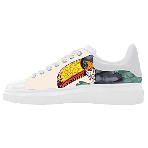 Dalliy Toucan Bird Cartoon Men's Canvas Shoes Lace-up High-top Footwear Sneakers Chaussures de toile Baskets C