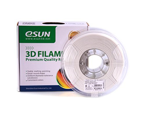 eSun 3D Filament - PLA+, 1kg 1.75/ 3.00mm, Druck Tempe. 190-210 Grad C, Universal für 3D Drucker z.B. MakerBot RepRap MakerGear Ultimaker Mendel Huxlep UP Thing-o-matic (1.75mm, Kaltweiß/Weiß)