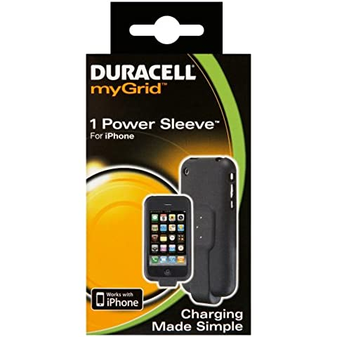 Duracell myGrid Power Sleeve - Funda con adaptador de carga para iPhone