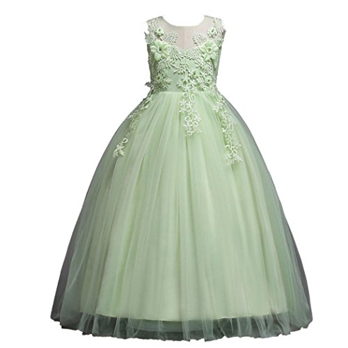 Trada Kinder Kleid, Prinzessin Blumenmädchen Brautjungfer Festzug Lace Tutu Tüll Kleid...