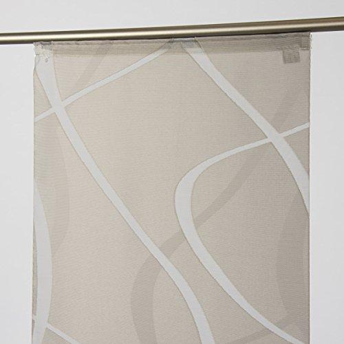 SchÖner leben. bello da vivere. tenda a pannello scherli wave, colore pietra, 245 x 60 cm