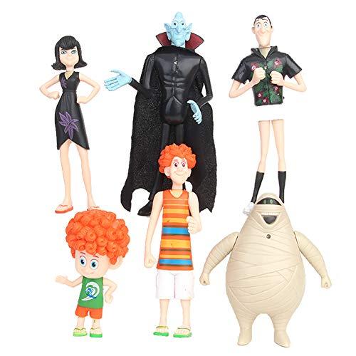RivenDell - 6 muñecas de Hotel Transylvania Decorativas, Regalo de cumpleaños, coleccionables para niños, Juguetes Modelo de decoración de la Vida