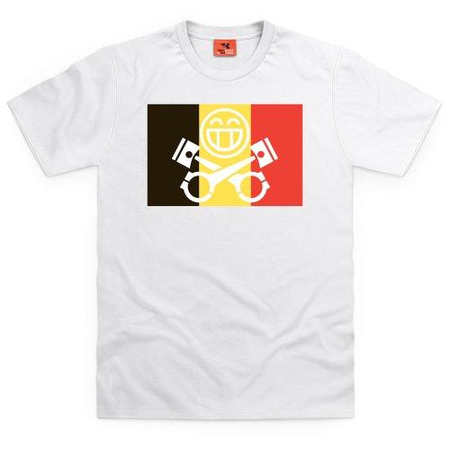 PistonHeads Belgium T-Shirt, Herren Wei