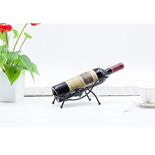 LLKOZZ Eisen-Weinregal aus Metall, freistehendes Verkaufsregal für Wein, kleines Ausstellungsdekorations-Weinregal Weinregal (Color : A)