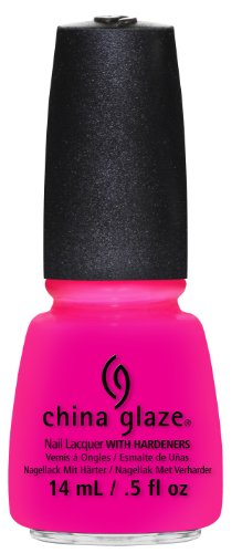 China glaze Nail Lacquer - Heat Index - Hot Pink - Jelly, 14 ml