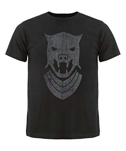 Game of Thrones Hounds Helm Mask T-Shirt, Herren, Schwarz, - Helm Hound