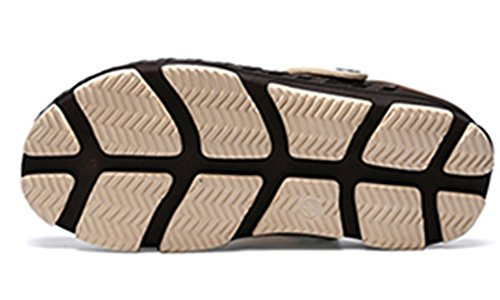 Sooneeya Quick-Dry Sabots de Jardin Léger Sandales de Marche Pantoufles Antidérapant Été utdoor Slip-On Hommes Occasionnels Marron