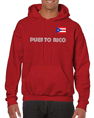 Artpower Puerto Rico Soccer Jersey Hooded Sweatshirt -