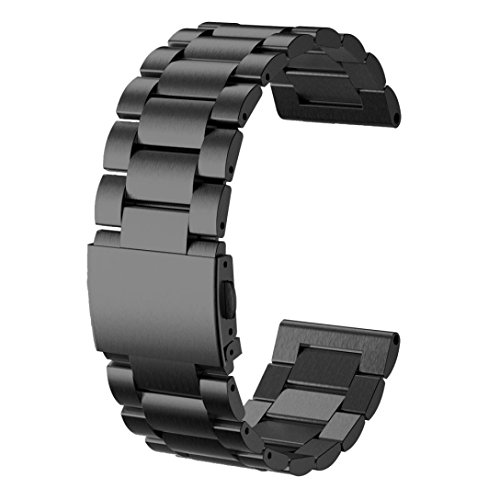 Per Garmin Fenix 3,Amlaiworld Moda nuovo acciaio inox Bracciale cinturino (nero)
