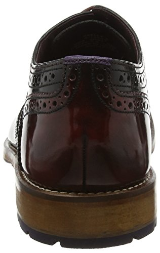 Ted Baker Krelly 2, Scarpe Stringate Basse Brogue Uomo, Black-Red Multicolor (Black/Dark Red)
