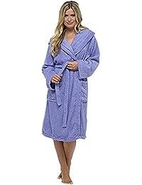 614751ba36 Goldatila Women s Bathrobes Autumn Winter Plus Size (S-5XL) Long Robes Long  Sleeve Robe Pajamas Comfort Luxury Women Gown Soft Plush…