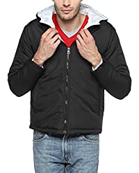 Campus Sutra Black Mens Jacket (AW15_JK_M_P1_BL_S)
