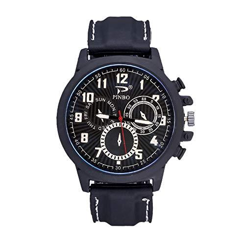 Souarts Herren Armbanduhr Männer Uhr Analog Quarzuhr Silikon Armband Outdoor Sports Uhren mit Batterie