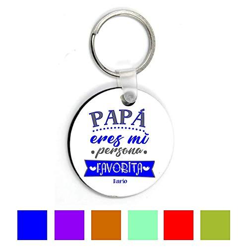 Llavero Papá/Regalo Original/Día Padre/Texto Personalizado/Redondo/Cumpleaños