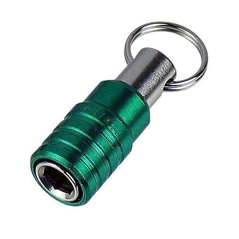 la 'BIT PIT' TITULAIRE 6,35 tournevis cruciforme / outil de forage (voir la vidéo en Annonce) Vert. Engineer dr-62, 6.35mm bit holder (green)