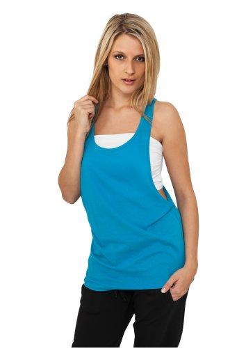 Urban Classics - Ladies Loose Tanktop, T-shirt sportiva Donna Turchese