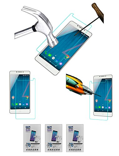 Acm Pack of 3 Tempered Glass Screenguard for Micromax Yu Yureka Plus Screen Guard Scratch Protector