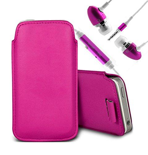 Brun/Brown - Samsung Galaxy V Plus Housse deuxième peau et étui de protection en cuir PU de qualité supérieure à cordon avec stylet tactile par Gadget Giant® Rose/Pink & Ear Phone